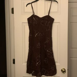 My Michelle Brown Flare Dress